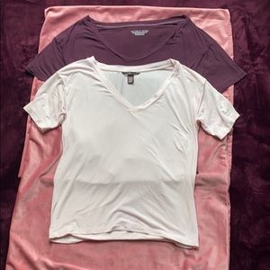 Two Victoria Supersoft Modal V-neck Tee's. Size XS